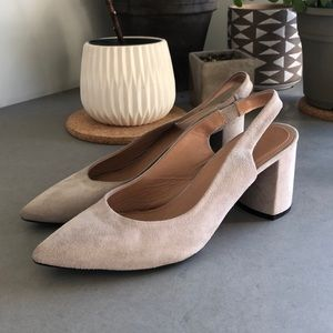 Lewit made in Italy suede sling backs size 37